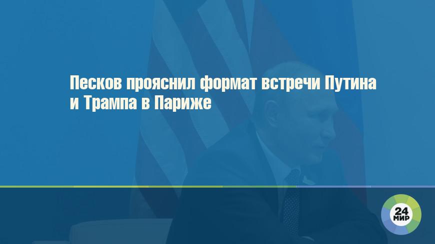Песков прояснил формат встречи Путина и Трампа в Париже
