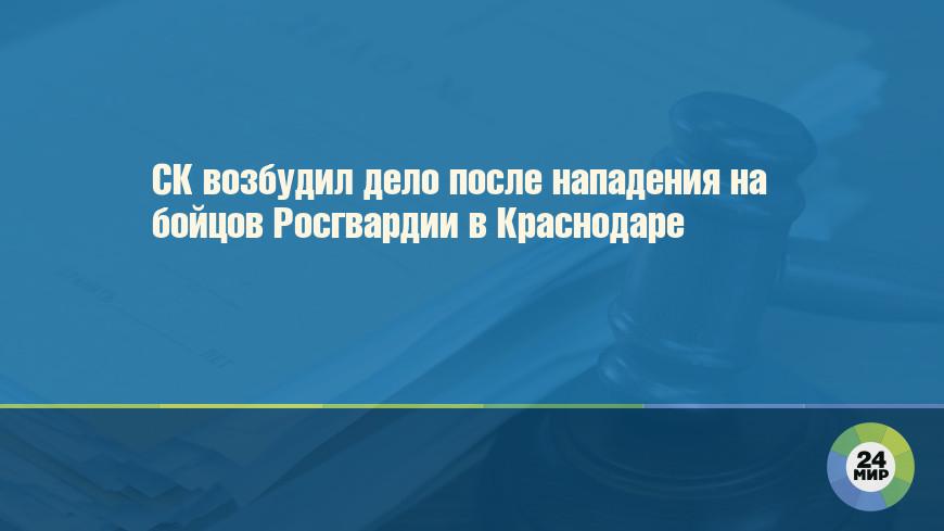 СК возбудил дело после нападения на бойцов Росгвардии в Краснодаре