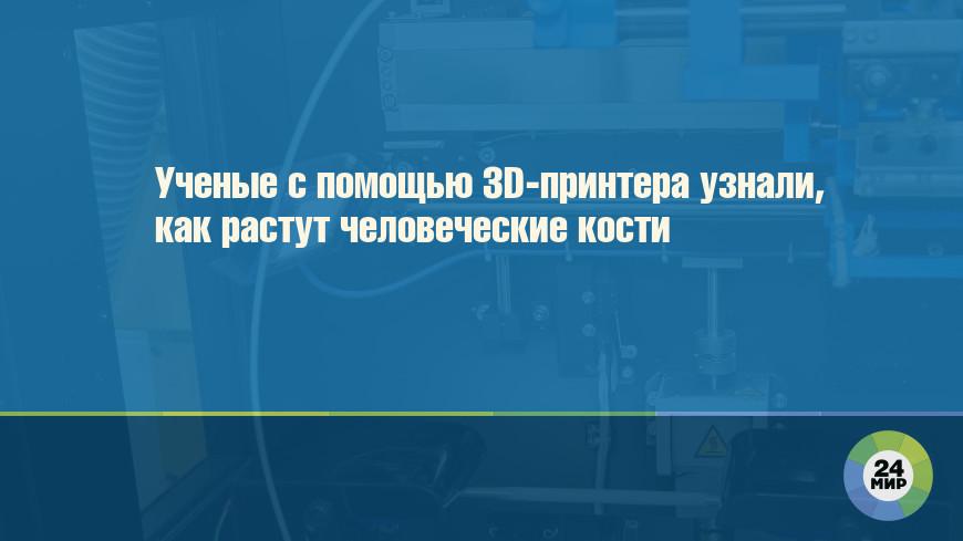 Ученые с помощью 3D-принтера узнали, как растут человеческие кости