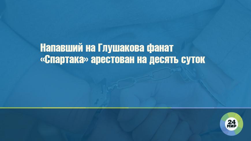 Напавший на Глушакова фанат «Спартака» арестован на десять суток