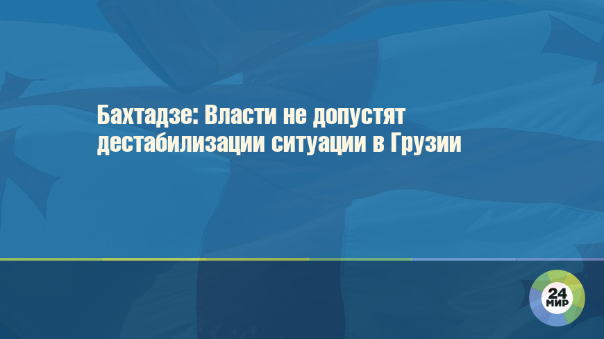 Бахтадзе: Власти не допустят дестабилизации ситуации в Грузии