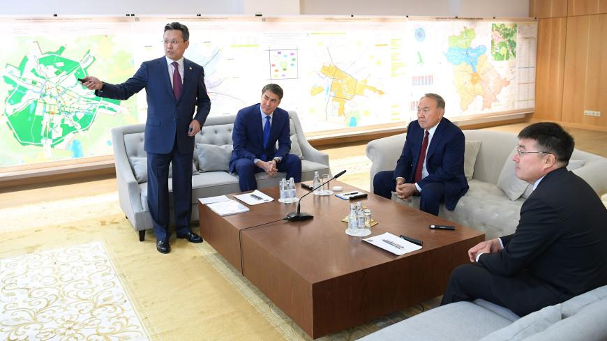 Назарбаев ознакомился с планами по возведению объектов в Астане