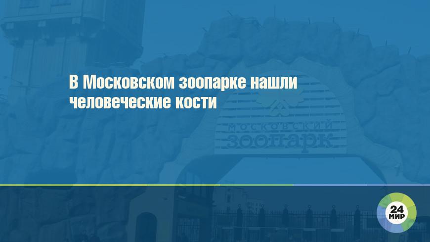 В Московском зоопарке нашли человеческие кости