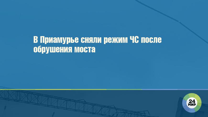 В Приамурье сняли режим ЧС после обрушения моста