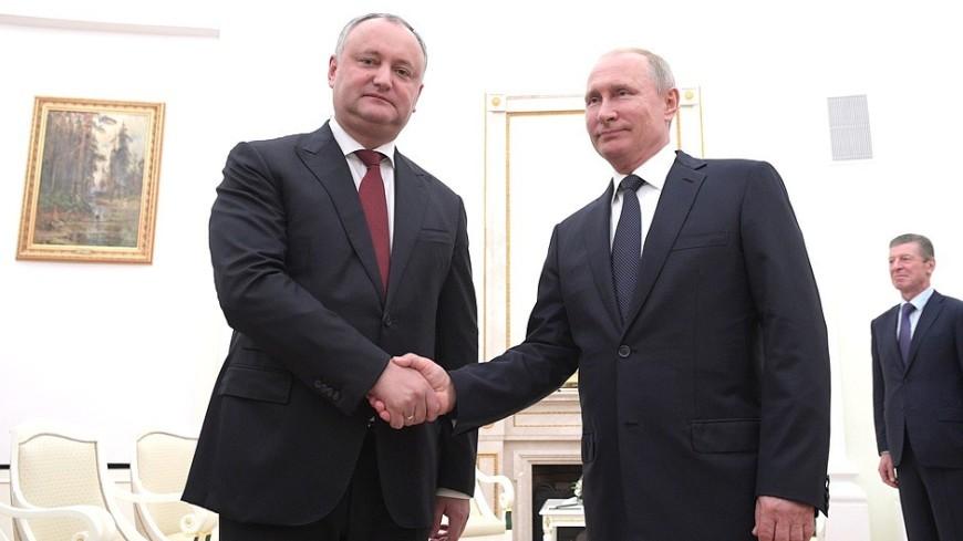 Игорь Додон: Во главе с Путиным Россия с честью  воплощает статус великой державы