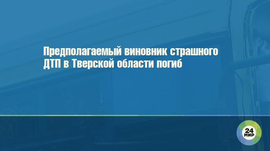 Предполагаемый виновник страшного ДТП в Тверской области погиб