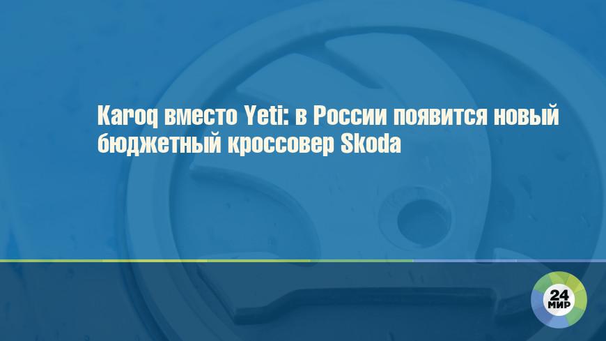 Karoq вместо Yeti: в России появится новый бюджетный кроссовер Skoda