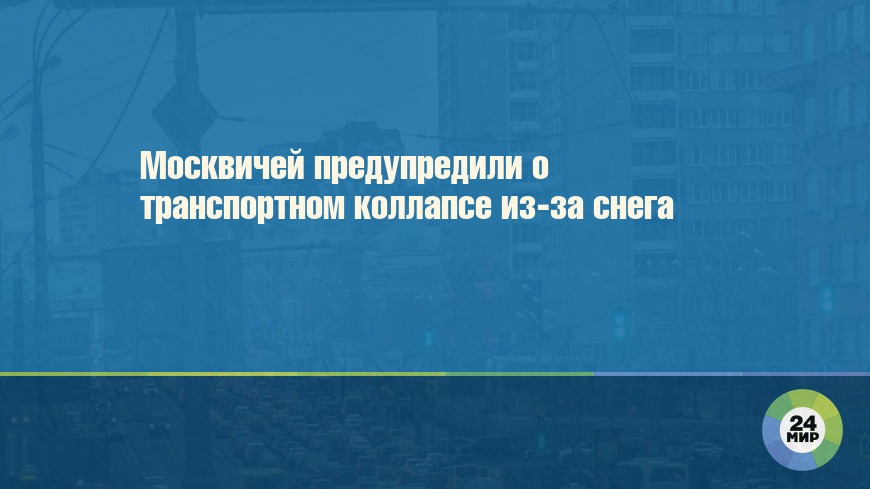Москвичей предупредили о транспортном коллапсе из-за снега
