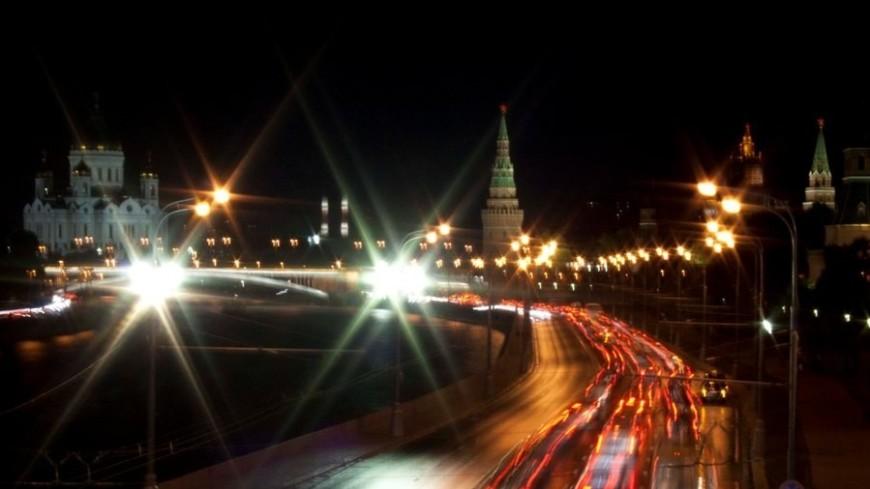 """Фото: Елена Андреева, """"«Мир24»"""":http://mir24.tv/, ночь, москва, пробки"""
