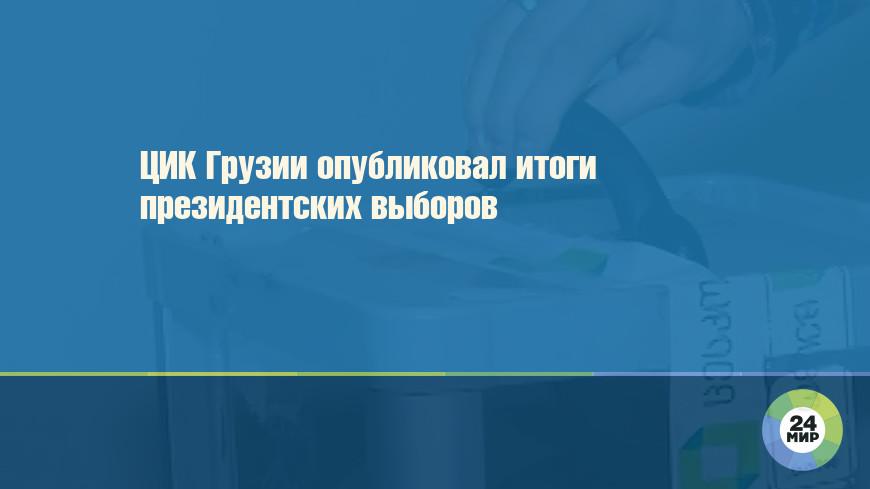 ЦИК Грузии опубликовал итоги президентских выборов