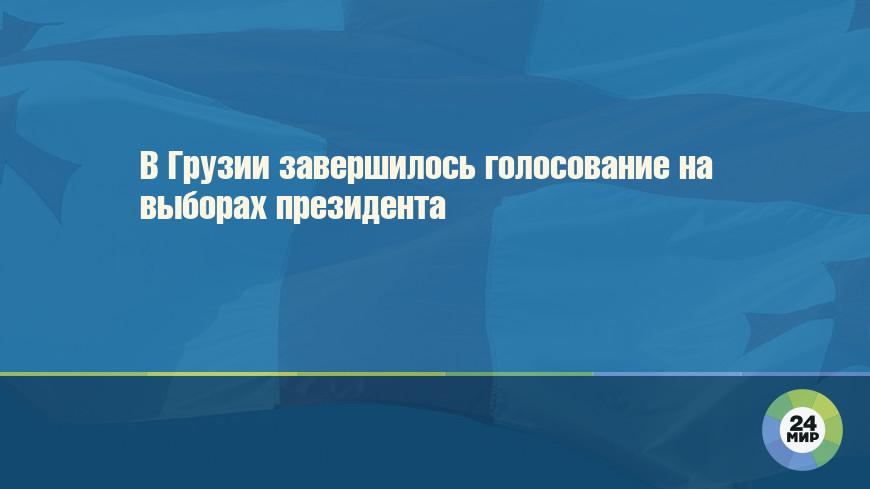 В Грузии завершилось голосование на выборах президента