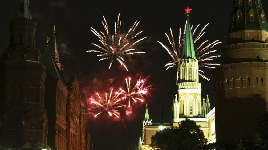 © Фото: «Мир 24», москва, кремль, звезда, салют, фейерверк, праздник
