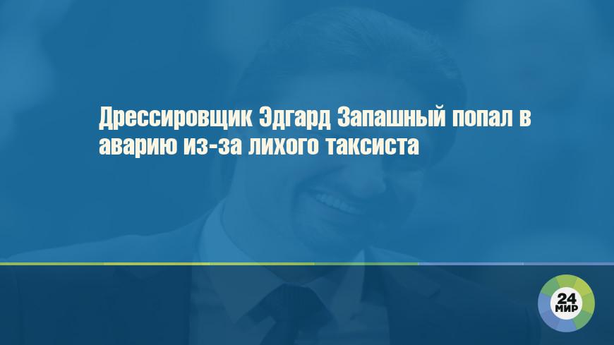 Дрессировщик Эдгард Запашный попал в аварию из-за лихого таксиста