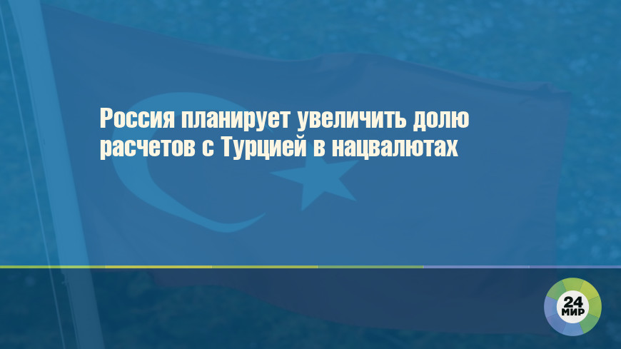 Россия планирует увеличить долю расчетов с Турцией в нацвалютах