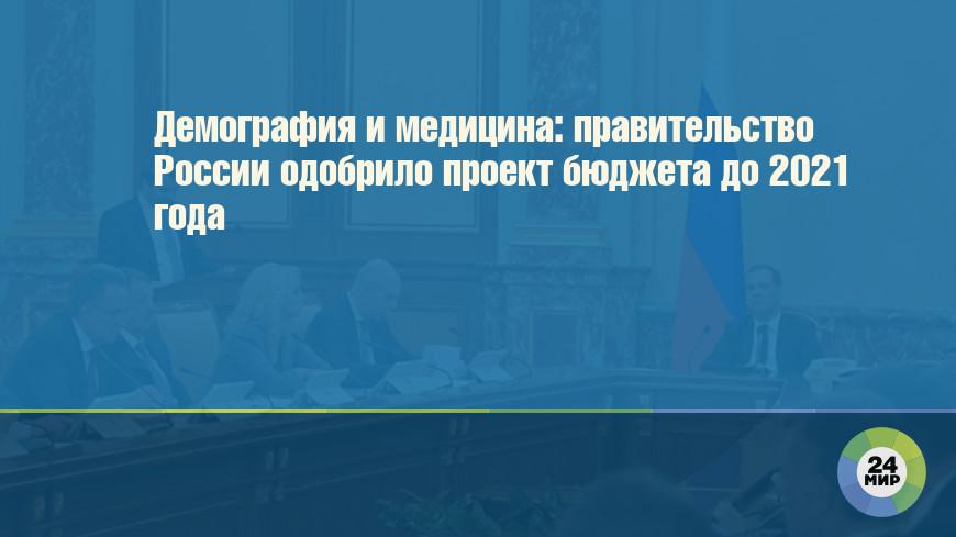 Демография и медицина: правительство России одобрило проект бюджета до 2021 года