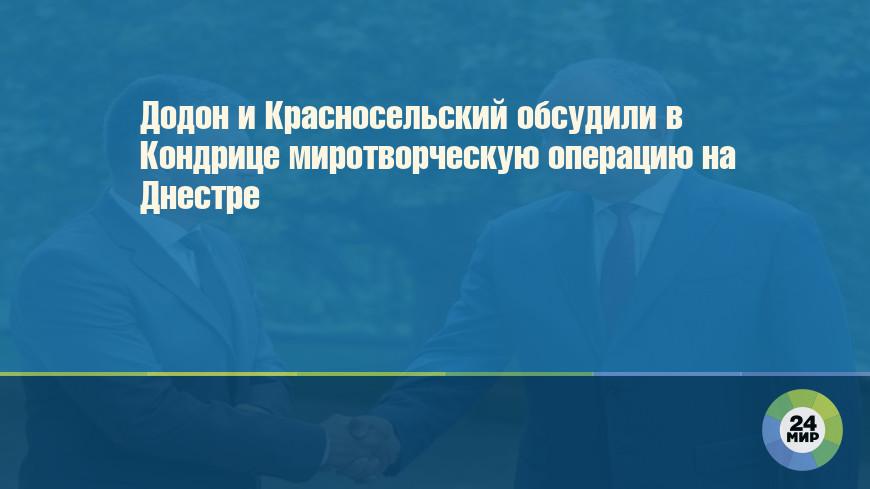 Додон и Красносельский обсудили в Кондрице миротворческую операцию на Днестре