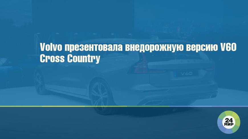 Volvo презентовала внедорожную версию V60 Cross Country
