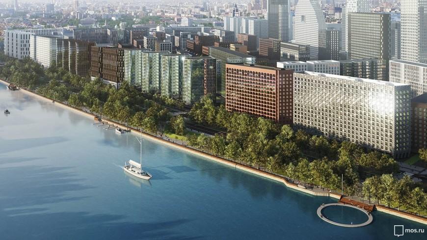 На набережной в Москве построят «плавающий» бассейн