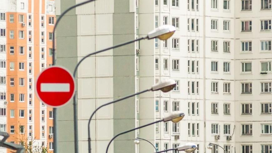 На Звенигородском шоссе ограничили движение из-за дорожных работ