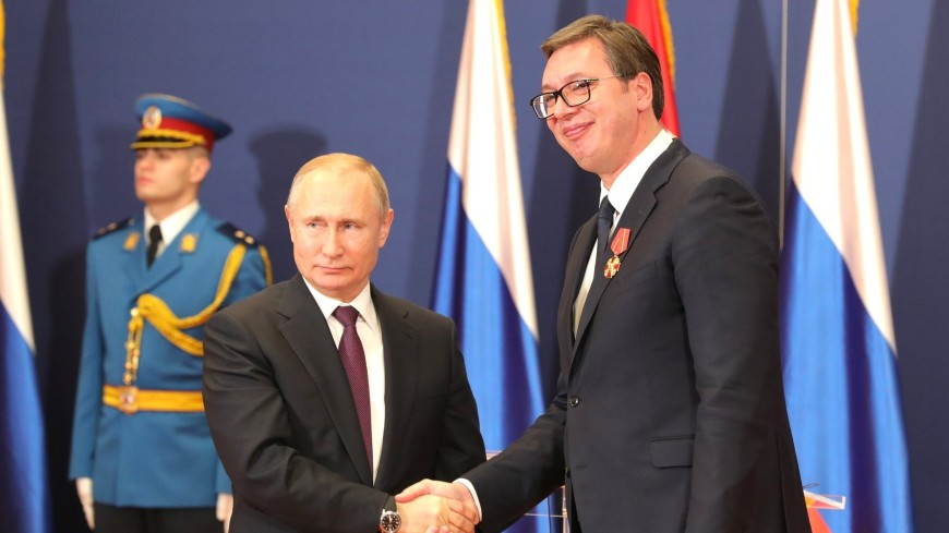 Путин намерен обсудить с Вучичем двусторонние отношения