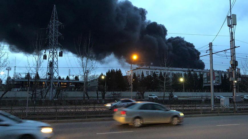 Пожар на заводе в Красноярске локализован