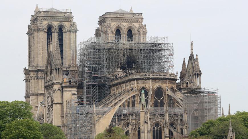 Обнародованы первые фото из собора Парижской Богоматери после пожара