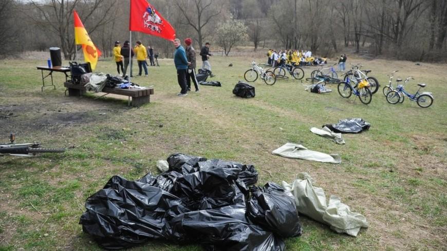 В первом московском велосубботнике поучаствовали 500 человек