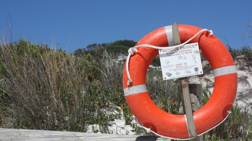 """Фото: Елена Карташова, """"«МИР 24»"""":http://mir24.tv//, море, австралия, спасательный круг"""