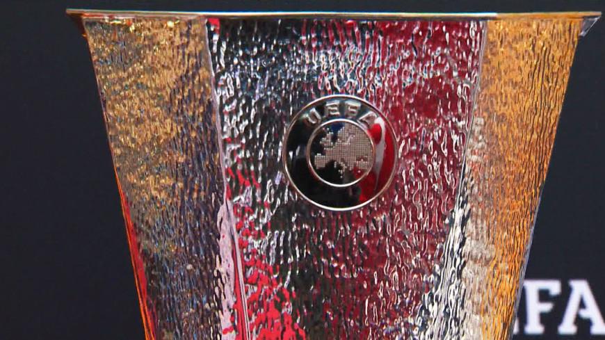 В Москву привезли кубок Лиги Европы