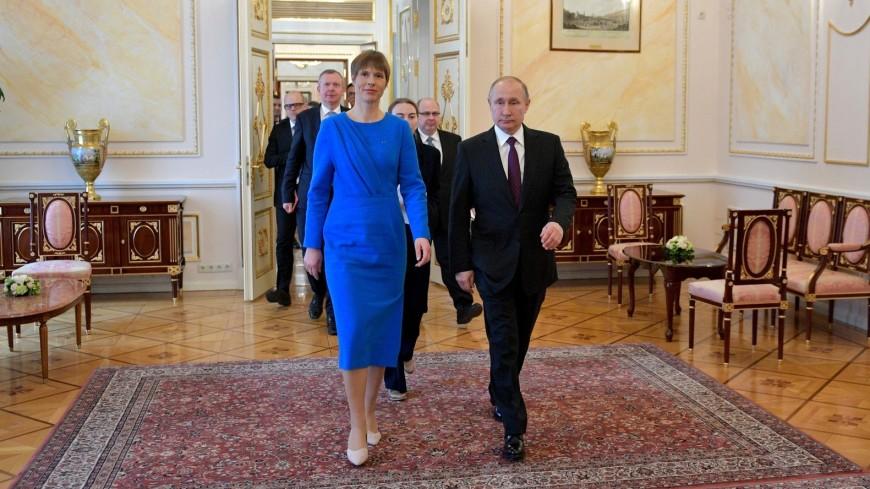 Путин и Кальюлайд обсудили безопасность и положение русскоязычных в Эстонии