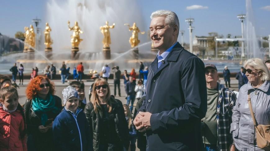 Собянин открыл фонтаны на ВДНХ после реставрации