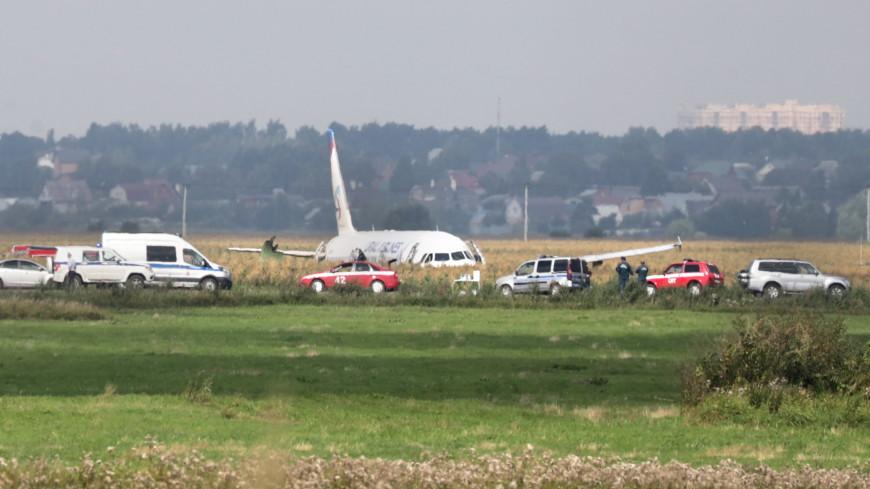 Самолет А321 в Подмосковье сел с убранными шасси
