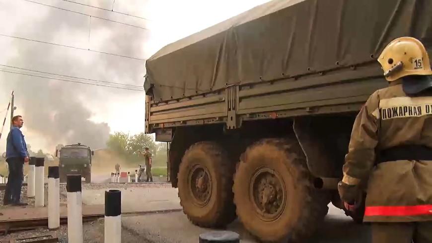 Повторное возгорание на военных складах под Ачинском ликвидировано