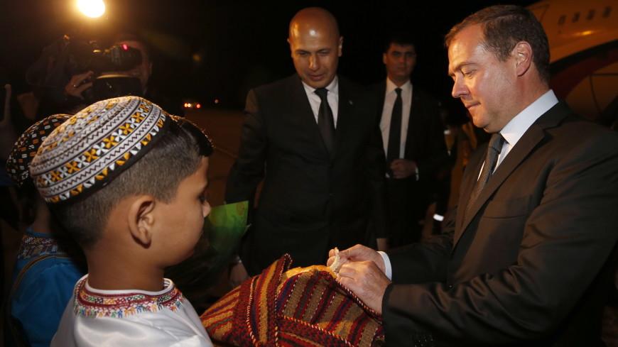 Medvedev te rive nan Tirkmenistan pou patisipe nan Caspian Forum la