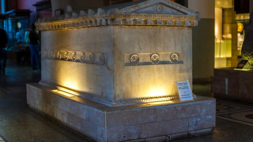 Государственный сторический музей г. Москвы,древность, раскопки, археология, саркофаг, ,древность, раскопки, археология, саркофаг,