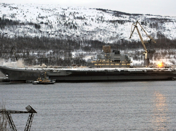 Ликвидировано открытое горение на крейсере «Адмирал Кузнецов»