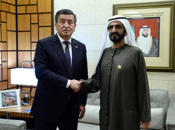 Жээнбеков пригласил премьера ОАЭ в Кыргызстан на зрелищные конные состязания