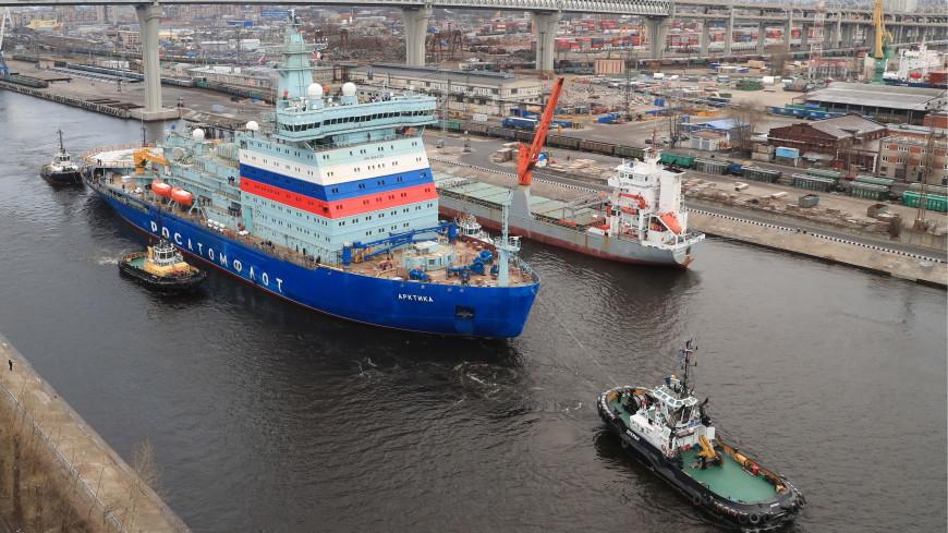 Ледокол «Арктика» завершил первые испытания в Финском заливе