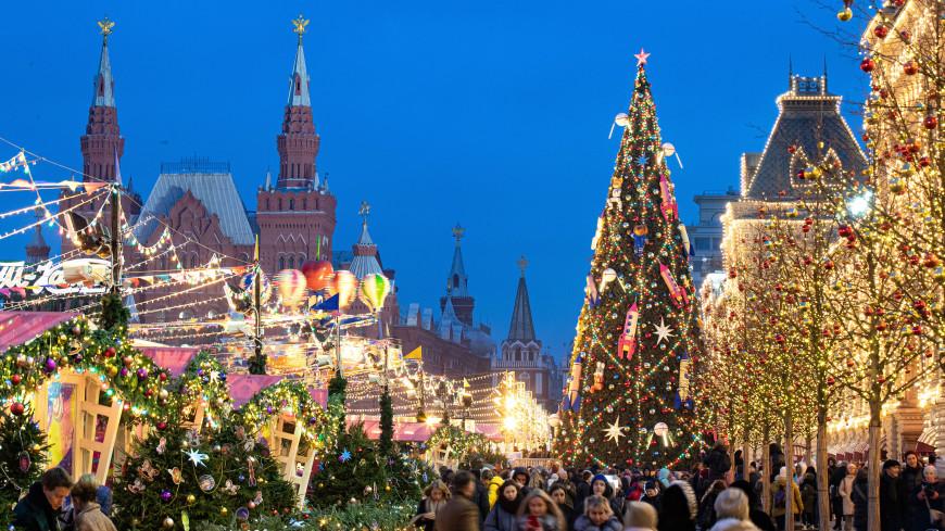 Москву украсили более 130 км гирлянд к Новому году