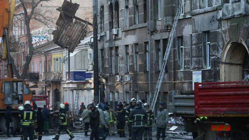 Число погибших при пожаре в Одессе достигло пяти человек