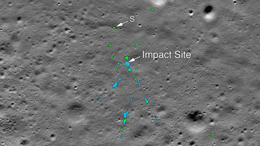 NASA опубликовало снимки разбившегося индийского лунохода «Викрам»