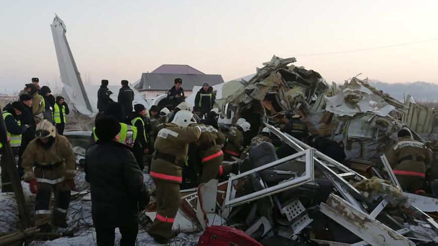 Черные ящики потерпевшего крушение под Алматы самолета переданы в МАК