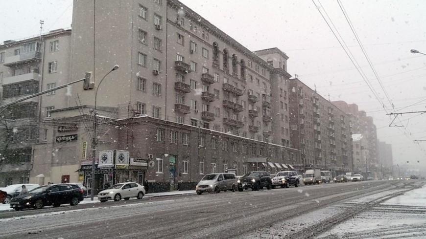 "Фото: Елизавета Шагалова, ""«МИР 24»"":http://mir24.tv/, дорога, москва, снегопад, зима, снег, улица"