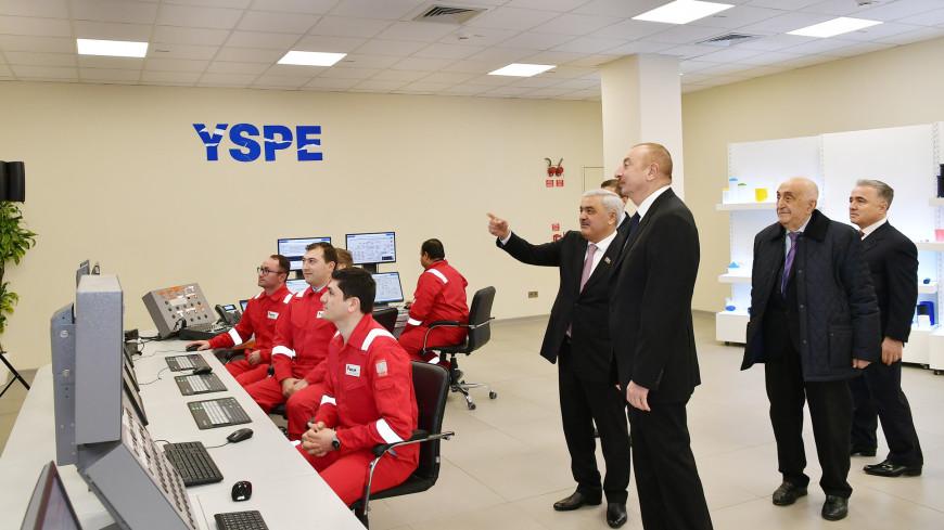 Ильхам Алиев открыл в Сумгаите завод по производству полипропилена