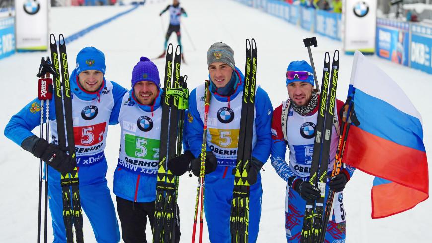 Российская мужская сборная по биатлону удерживает второе место на Кубке мира