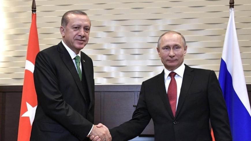 Путин позвонил Эрдогану и поздравил его с юбилеем