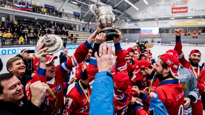 Буря эмоций: тренер россиян доволен победой на ЧМ по хоккею с мячом