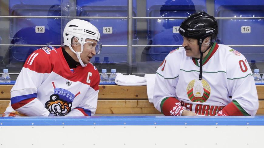 Путин и Лукашенко сыграли в хоккей в Сочи за команду «Тигров» (ФОТО)