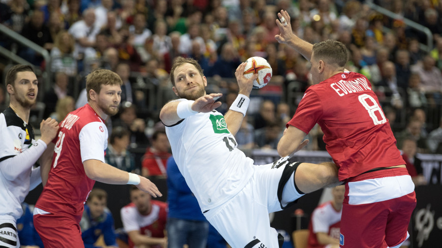 Российские гандболисты сыграли вничью с Германией