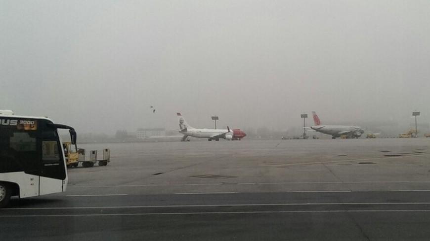 "© Фото: Елизавета Шагалова, ""«МИР 24»"":http://mir24.tv/, самолет, аэропорт, туман в аэропорту"